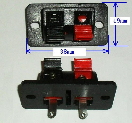 音响 音箱接线柱 (二连)